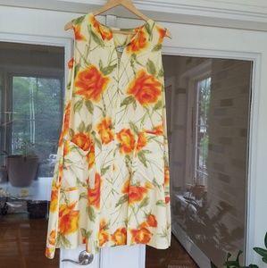 Vintage water color dress